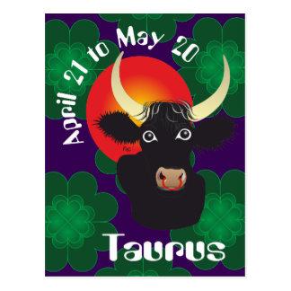 Postal Taurus el abril 21 to May 20 Postcards