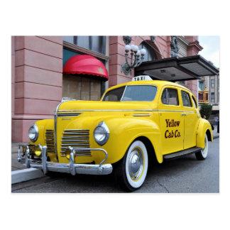Postal Taxi amarillo del vintage de Nueva York