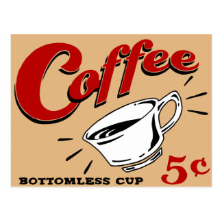Postal Taza insondable del café