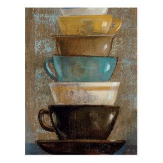 Postal Tazas de café apiladas