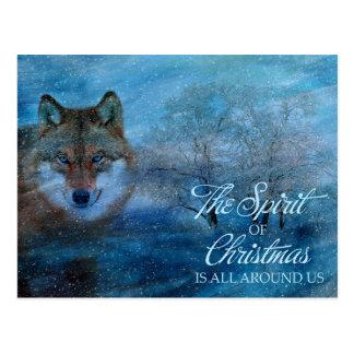Postal TCWC - Navidad azul del lobo