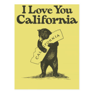 Postal Te amo California