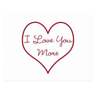 Postal Te amo más