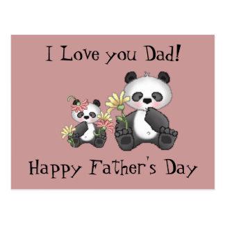 Postal ¡Te amo papá! El día de padre feliz