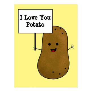 Postal Te amo patata