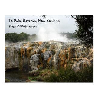 Postal Te Puia, Rotorua, Nueva Zelanda