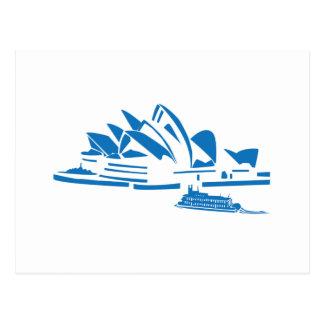 Postal Teatro de la ópera de Sydney