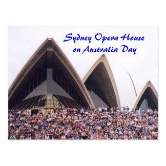 Postal Teatro de la ópera de Sydney el el día de