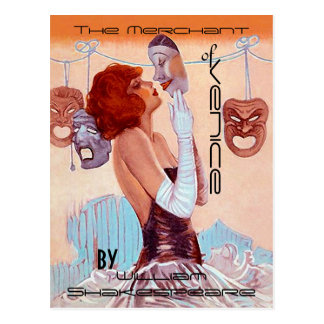 Postal Teatro-Poster-Mirada Shakespeare del vintage de