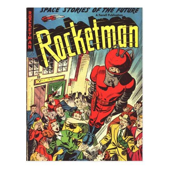 Postal Tebeos del vintage de Rocketman