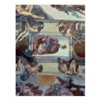 Postal Techo 2 de la capilla de Sistine