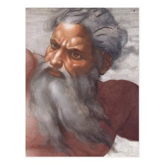Postal Techo de la capilla de Sistine