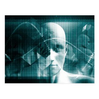 Postal Tecnología futurista de la ciencia médica como