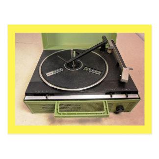 Postal Tecnología retra del tocadiscos de la placa
