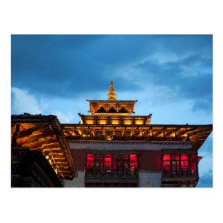 Postal Tejado budista de Dzong