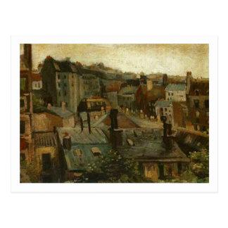 Postal Tejados y partes posteriores de casas, bella arte