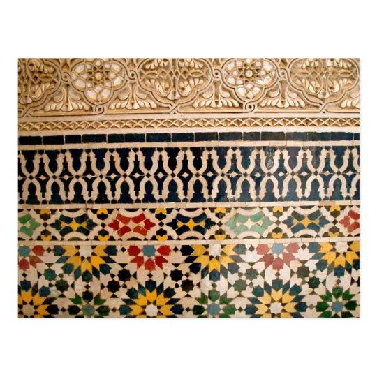 Postal Tejas árabes de la textura