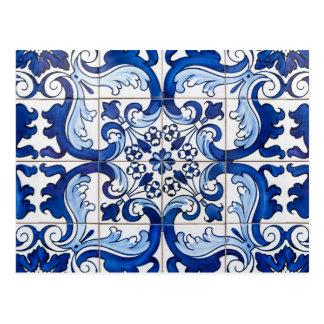Postal Tejas esmaltadas de Azulejo del portugués