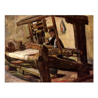 Postal Tejedor de Vincent van Gogh