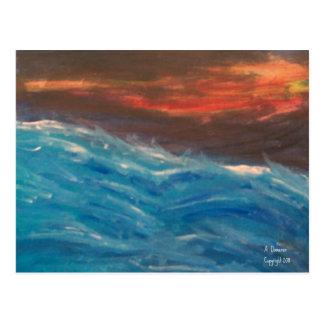 Postal tempestuosa de los mares