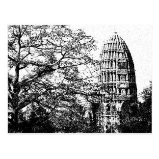 Postal Templo budista antiguo