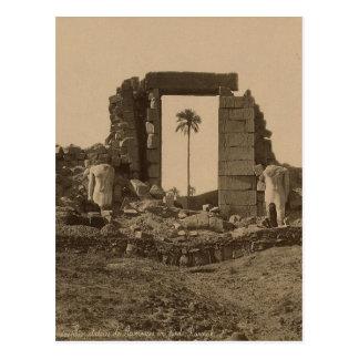 Postal Templo de Amenophis, Egipto circa 1867