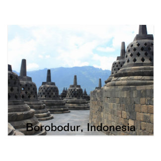 Postal Templo de Borobodur Budhist, Indonesia