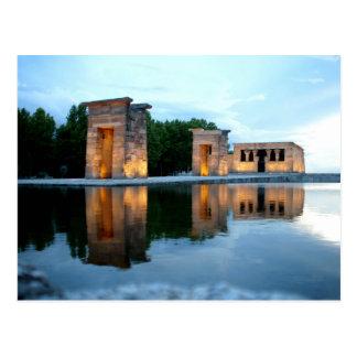 Postal Templo de Debod - Madrid