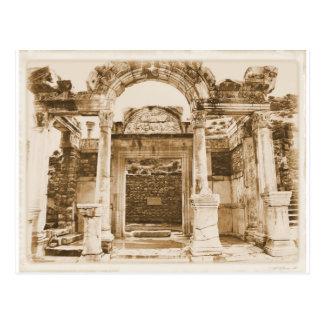 Postal Templo de Hadrian en FOTOGRAFÍA del VINTAGE de