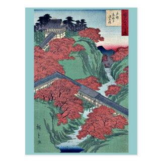 Postal Templo de Tofukuji en Kyoto por Utagawa, Hiroshige