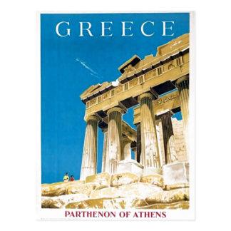 Postal Templo del Parthenon de Atenas Grecia del viaje