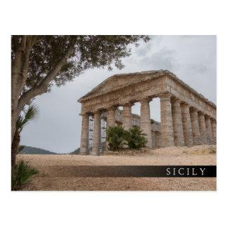 Postal Templo griego en Segesta, Sicilia