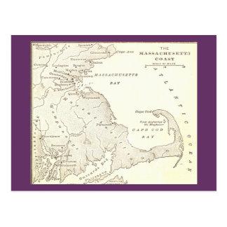 Postal temprana de Massachusetts