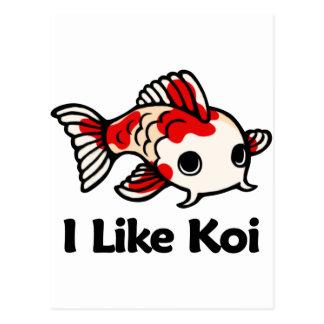 Postal Tengo gusto de Koi