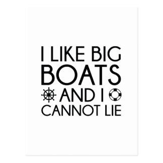 Postal Tengo gusto de los barcos grandes