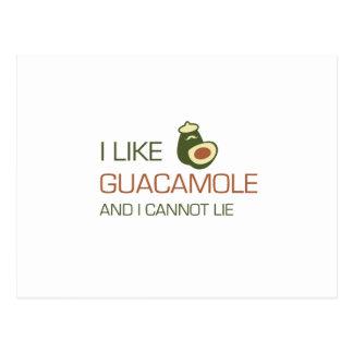 Postal Tengo gusto del guacamole y no puedo mentir