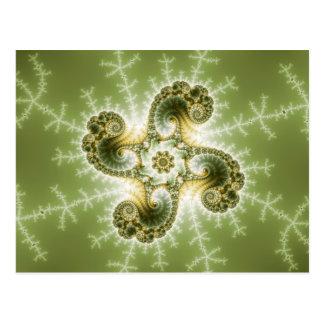 Postal Tentáculos curiosos - arte del fractal