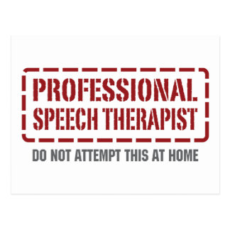 Postal Terapeuta de discurso profesional