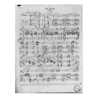 Postal Tercera sonata para el piano y el violín