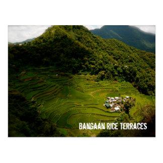 Postal Terrazas del arroz de Bangaan