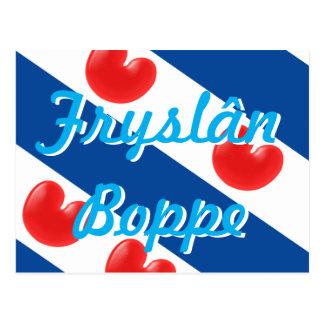Postal Texto adaptable Fryslan Boppe de la bandera del