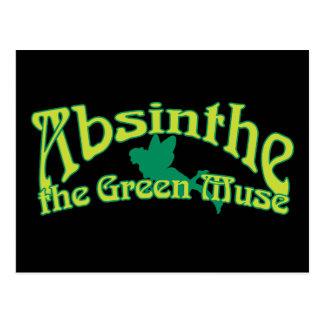 Postal Texto del ajenjo la musa verde