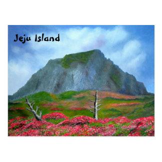 Postal Texto inglés de Corea de la isla de Jeju (제주도)