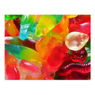 Postal textura colorida de la goma de la jalea