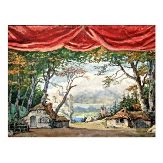 POSTAL THEATRE STAGE BACKDROP DECOR, BALLET GISELLE GIFT