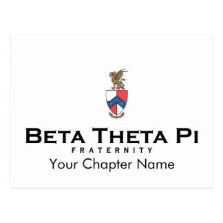 Postal Theta beta pi con el escudo - color
