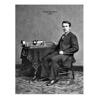 Postal Thomas Edison