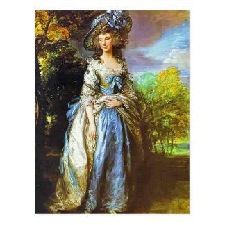 Postal Thomas Gainsborough- Sophia Charlotte