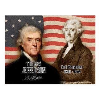Postal Thomas Jefferson - 3ro presidente de los E.E.U.U.