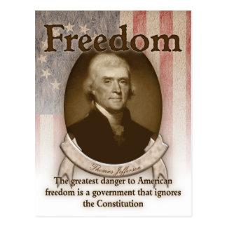 Postal Thomas Jefferson - libertad